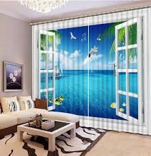 aliexpress com buy scenery window curtains for living room