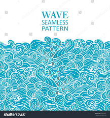 Invitation Card Border Design Waves Seamless Border Pattern May Be Stock Vector 342622391