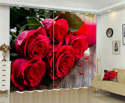 popular bed draping buy cheap bed draping lots from china bed red rose flowers luxury 3d curtains drapes for bed room living room decorative window curtains office