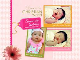 customized birthday and christening invitation creative