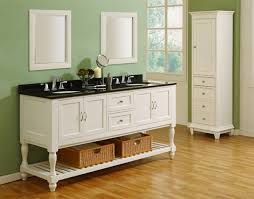 70 pearl white mission style bathroom vanity set with turn