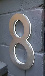 Lighted House Number Sign Luxello Modern 10 House Address Numbers Surrounding Com