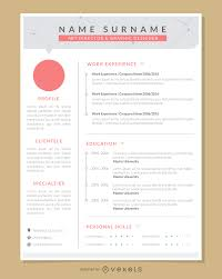 Resume Sample Graphic Designer Graphic Artist Pro Resume Template Vector Download