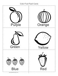 color fruit flashcards flashcards pinterest learning english