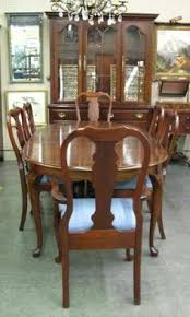 excellent dining room set by pennsylvania house includes queen
