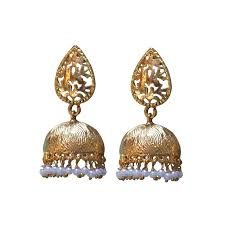 antique gold jhumka earrings madrasi gold jhumka designs buy online jhumkas tassel earrings