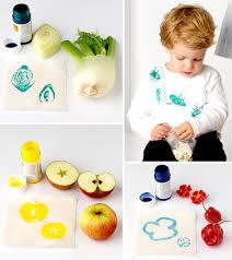 pintar con frutas pequeocio