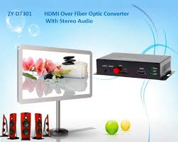 hdmi stereo audio signal over fiber optic converter 1080p hdmi