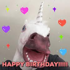 Unicorn Birthday Meme - unicorn happy birthday gif find download on gifer