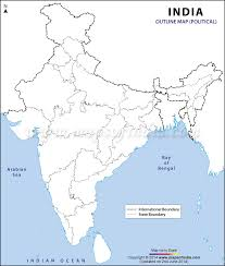 Blank Maps Of Asia by India Political Map In A4 Size