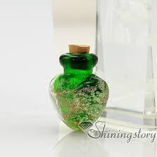 small urn heart glitter murano glass luminous handmade murano glass perfume