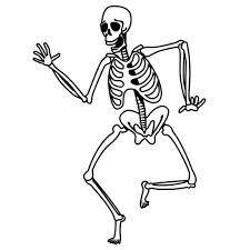 halloween skeleton coloring pages virtren com