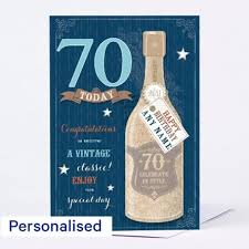 personalised 70th birthday cards card factory