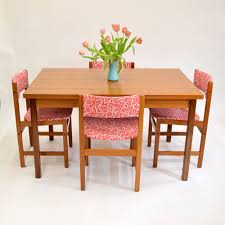 danish teak dining table with pull out leaves sold u2014 vintage