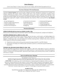 Technical Experience Resume Sample by Resume Examples Electrical Engineering Resume Template Mechanical