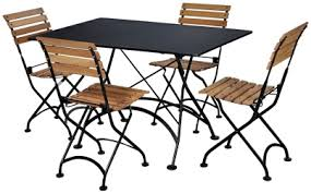outdoor bistro table and chairs french bistro rectangular steel outdoor folding table with chairs