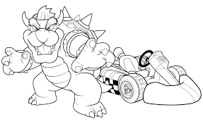 13 images of mario kart wii coloring pages to print mario kart