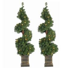 sterling 3 5 ft pre lit potted spiral artificial christmas tree
