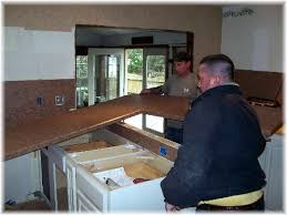 How To Install Kitchen Countertops by Kitchen Counter Installation Granite Transformations Blog