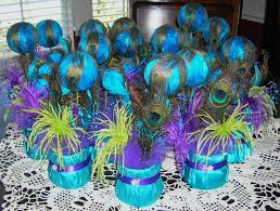 peacock wedding reception table centerpiece sljbridal etsy diy