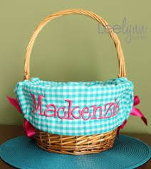 personalized easter basket liners blue polka dot personalized monogrammed easter basket liner