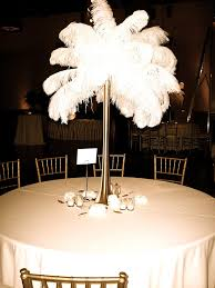 ostrich feather centerpiece exquisite blooms ostrich feather centerpiece