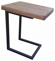 c shaped table wood c shape side table craftsman side tables and