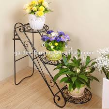 xy1305 uniquely home garden decor metal plant stand 3 tier flower