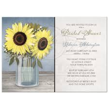 jar bridal shower invitations shower invitations rustic sunflower blue jar