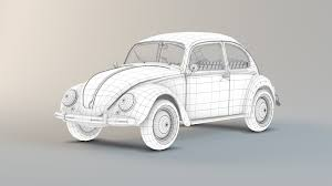 volkswagen bug drawing artstation volkswagen beetle koalables 3d