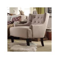 Reclining Wingback Chairs Homevance Kingston Tufted Barrel Wingback Chair Grey Wingback