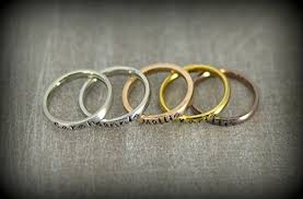 personalized stackable rings personalized stackable name ring stacking rings matte shiny