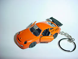 orange porsche 911 gt3 rs 3d porsche 911 gt3 rs custom keychain by brian thornton keyring