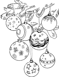 christmas balls coloring pages