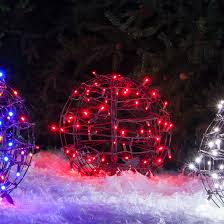 Christmas Light Balls For Trees Led Christmas Light Ball Fold Flat Brown Frame