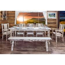 Dining Table Ls Lodge Pole Pine Extending Log Dining Table By Montana Woodworks