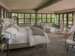 cottage guest bedroom with french doors u0026 concrete tile zillow