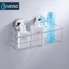stainless steel shelves bathroom shower shelf dual sucker bathroom