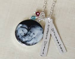 Personalized Photo Necklace Mothers Day Jewelry Etsy