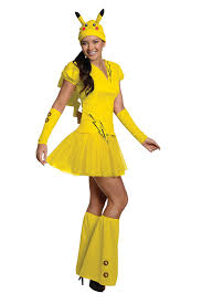 Halloween Costumes Girls Amazon Amazon Rubie U0027s Costume Pokémon Female Pikachu Costume Clothing