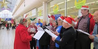 Carol Blind Carol Singing At Bayview Shopping Centre Blind Veterans Uk