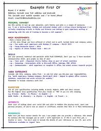 resume template for students first job first resume examples
