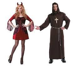 turbo man halloween costume nwt couples halloween costume good versus evil monk and devil