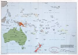 Oceania Map Large Detailed Political Map Of Oceania With Major Cities And