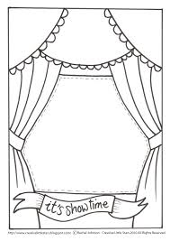 theatre stage coloring pages drama pinterest paper toys and