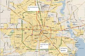 Iah Terminal Map Houston Metro Map Map Of Houston Metro Area Texas Usa
