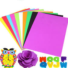 10 sheets thick multicolor a4 sponge eva foam paper kids handmade