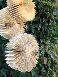 hanging book bursts set of 3 repurposed recycled reused wedding