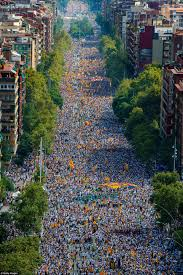 catalans fill the streets of barcelona for region u0027s independence