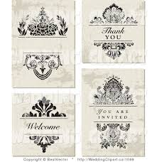 wedding invitations vector vector marriage clipart of a wedding set of distressed floral